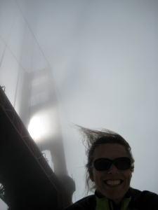 Perfect foggy send off from SF