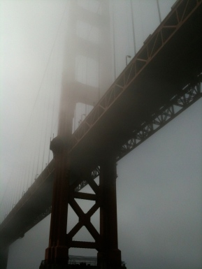 Bye bye foggy bridge