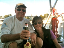 Torben and Judy, SF-LA Sail Sept 2012