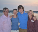 Dave, Eileen, Gus & Sophie; Block Island, RI, August 2015