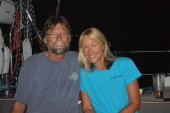 Bobby & Denise from SV Cirrus Lee , Staniel Cay, Bahamas, Jan. 2016