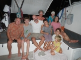 S/V SandDollar and S/V Appa crew JC, Nate, Marcus, Jen, Ben, Kayle, Shauana, Easton and Sam Zihuatanejo, Mexico Feb 2014