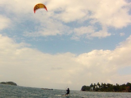 Peter kiting in Isla Grande