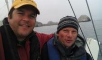 Peter and Mal, Farallon Islands Sail, CA., Aug 2012