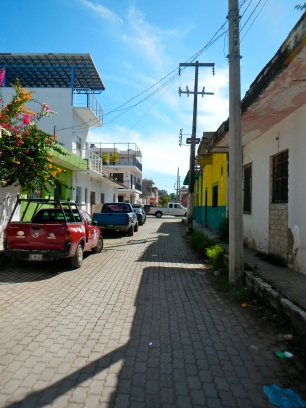 Street in San Blas, Mexico