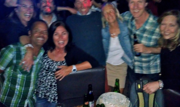 Night out with crew from Celebration and Ariel IV