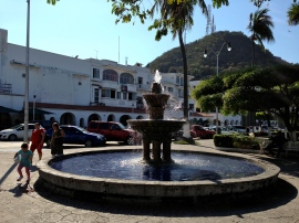 Downtown Manzanillo fountain