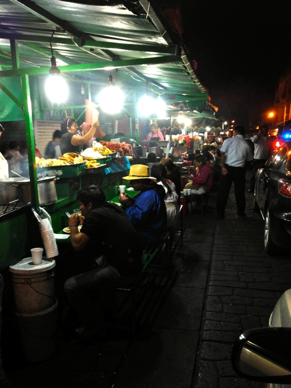 Food vendors outside Juarez Market