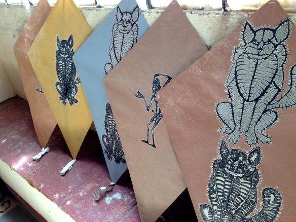 Hand made paper kites