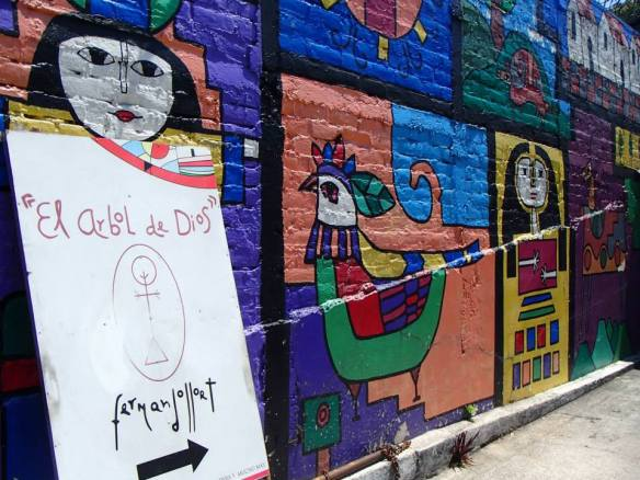 El Salvadorian artist, Llort's gallery.