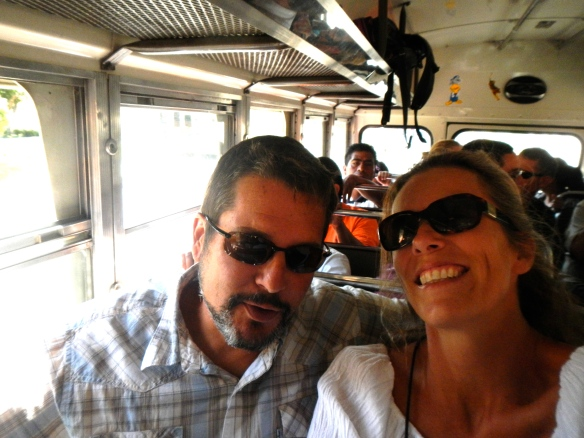 Bus ride into Antigua