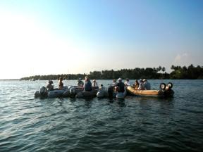 Dinghy raft up