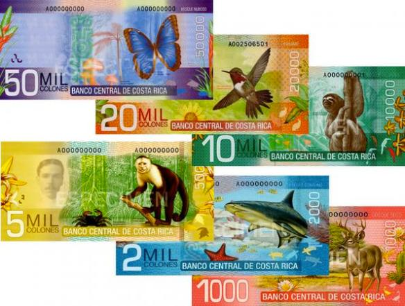 Costa Rican Colones currency