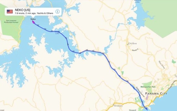 Our GPS track through the Canal