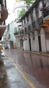 Rainy afternoon on the streets of Casco Viejo