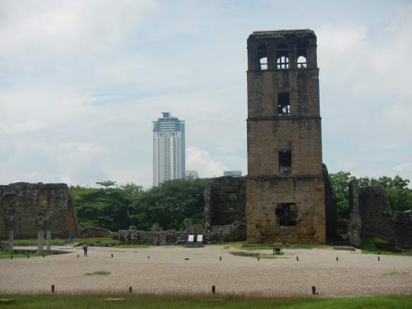 old and new panama city