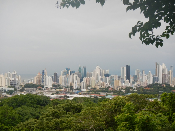 View of the city from the top of Parque Natural Metropolitano