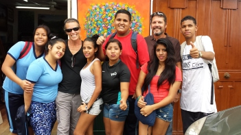 Our new amigos, school kids who wanted to practice their English