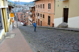 Hills of Quito, just like we were back in San Francisco