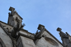 Iguana gargoyles on the Basilica