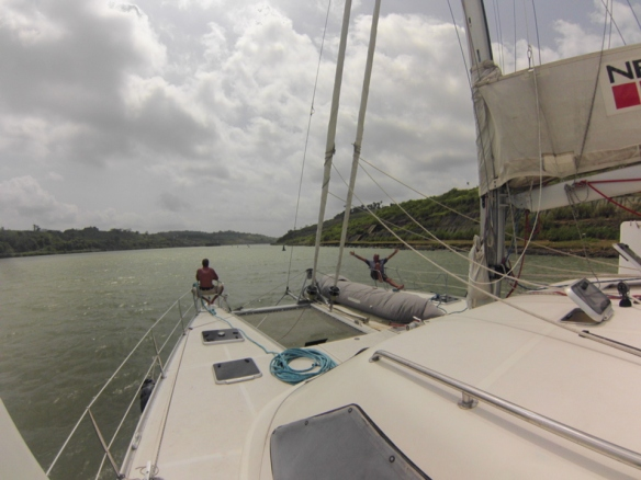 Heading through Lake Gatun