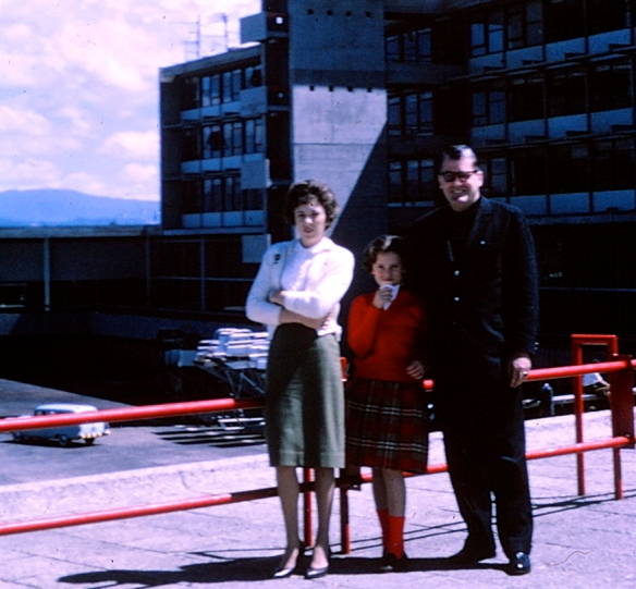 My mom, aunt Lynn and grandfather in Bogotá 1959