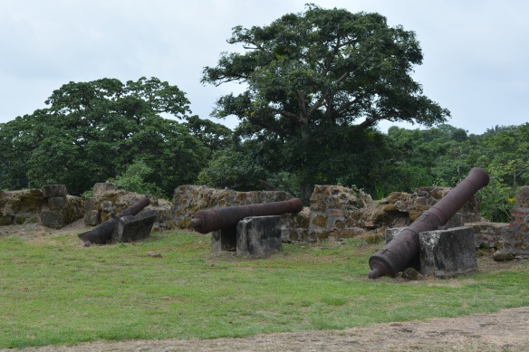 These cannons are just lying about. Dozens of them.