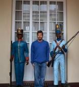 Peter standing guard