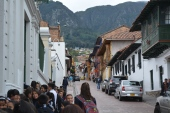 walking around the hilly streets of Bogotá