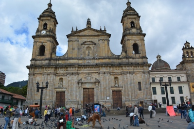 Primary Cathedral of Bogotá in the Plaza de Bolívar