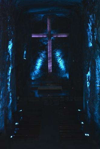 Salt Cathedral of Zipaquirá. is a massive underground Catholic cathedral built within the tunnels of a salt mine 200 meters underground