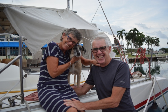 Charlotte and James from M/V Pegasus. Oct 2014 Shelter Bay Panama