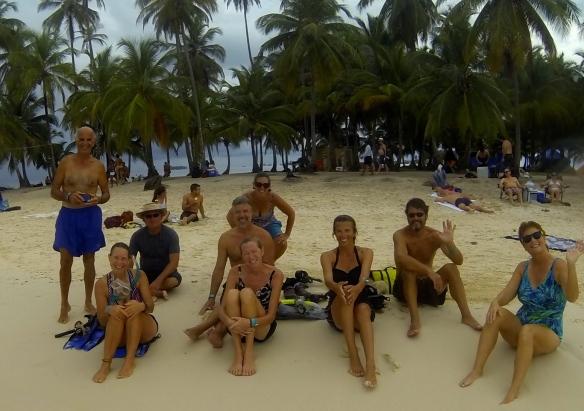 Snorkel gang on dog island