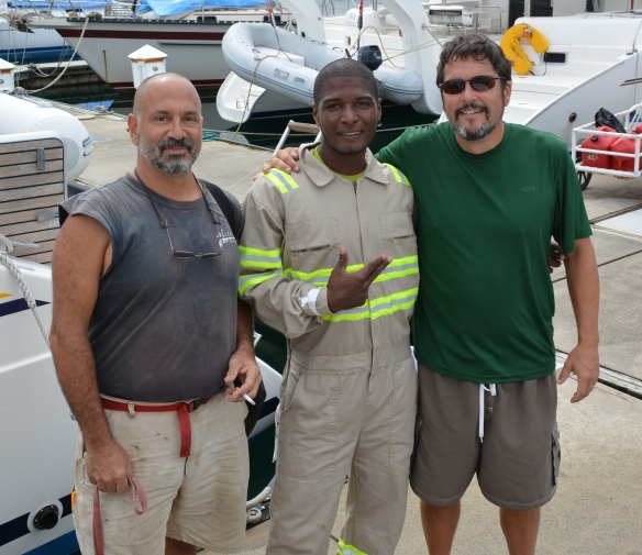 Hard working Scott, Eddie and Peter