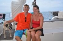 Mark & Michelle from S/V Reach; San Blas, Panama, Dec. 2014