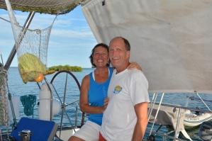 Susan & Roger from S/V Second Wind; San Blas, Panama, Dec. 2014