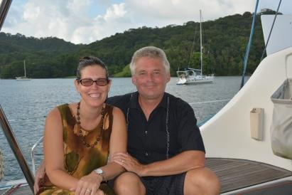 Melissa and Dave from S/V Apsaras; Portobello, Panama Nov. 2014