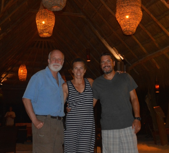 Randy, Mary ,Pete in Tulum