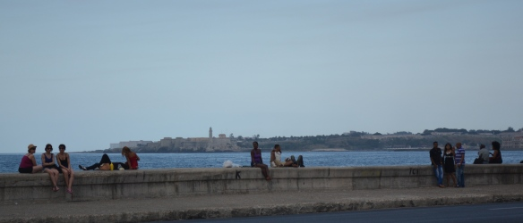 Havana's Malecón is a hang out place for all.