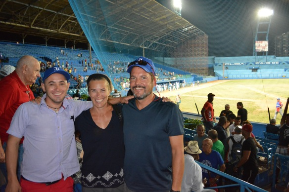 We were thrilled to take Olexis' to his first professional baseball game.  The  Havana Industrials  in the playoffs (they lost)