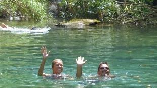 Cooling off in Parque El Nicho
