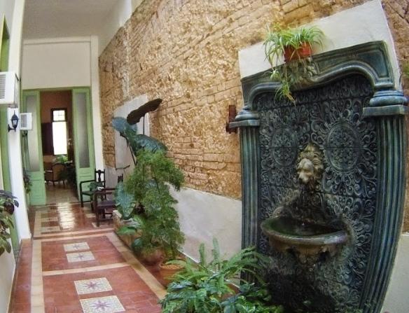 Beautiful corridor to the rooms of Casa Habana