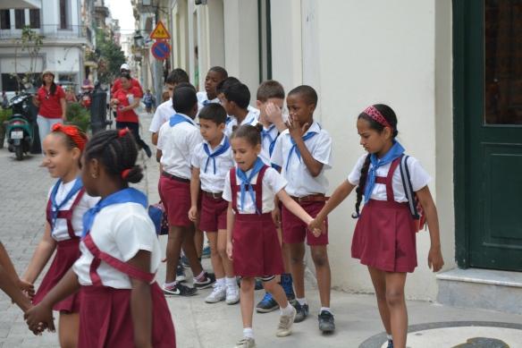 All school children wear uniforms
