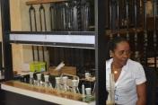 Perfumer working in Havana.