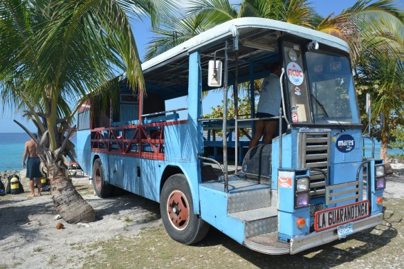 Dive center was a repurposed bus.  Our dive guide was a Cuban special forces commando and one of the best guides we've ever had