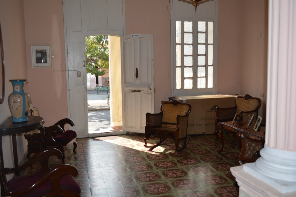 Interior common room of  Cienfuegos casa particular
