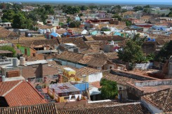 Tile roofs of historic Trinadad