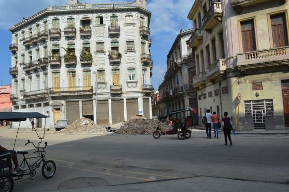 torn up street