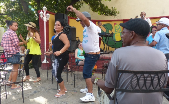 Cubans love to dance.