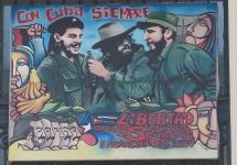 Havana, Cuba. I imagine art criticizing the Revolutionary Government doesn't stay up long.